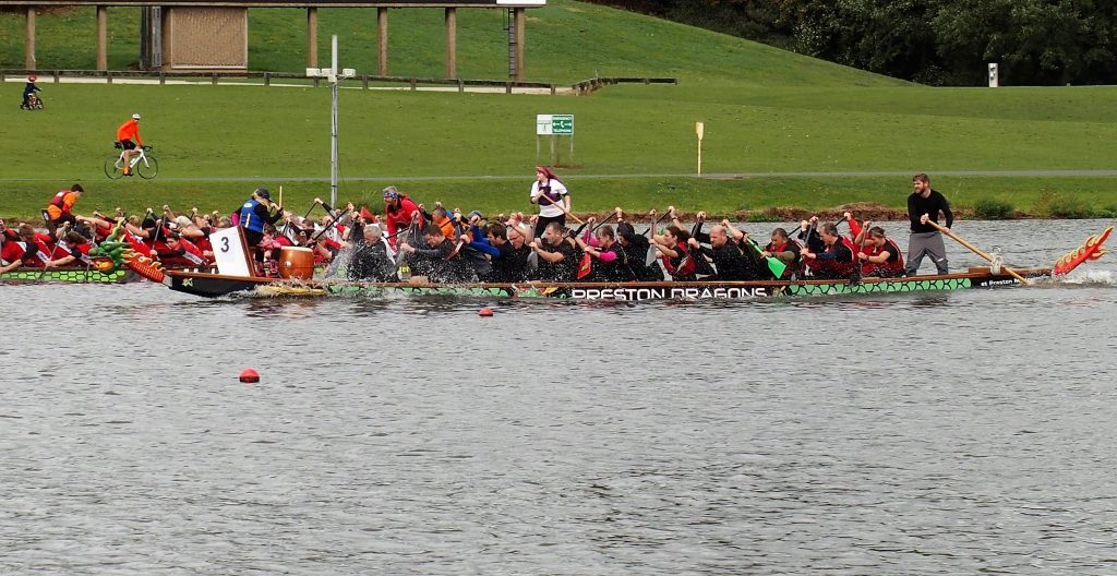 Preston Dragons in action at Nottingham in 2018